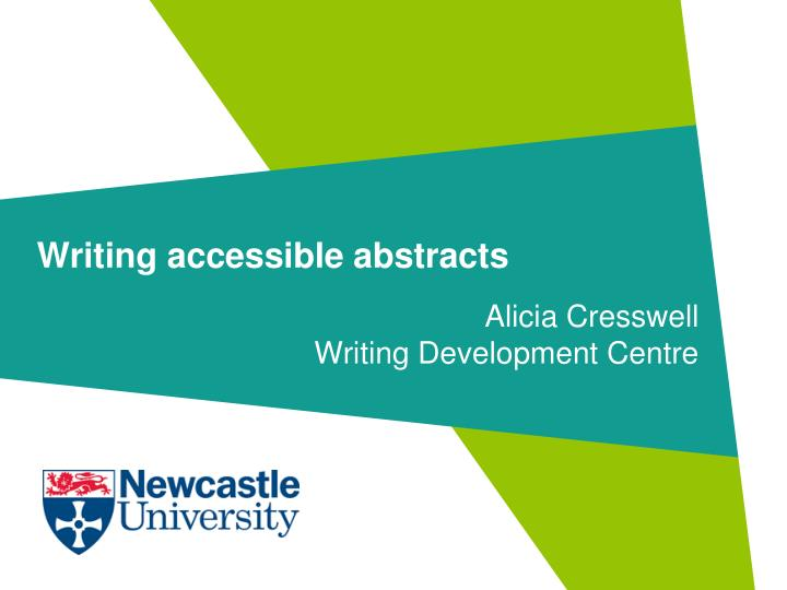 writing accessible abstracts n.
