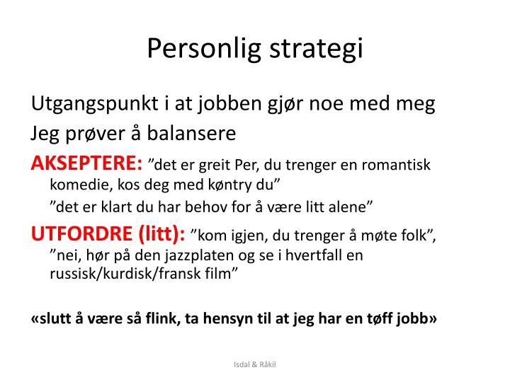 Personlig strategi