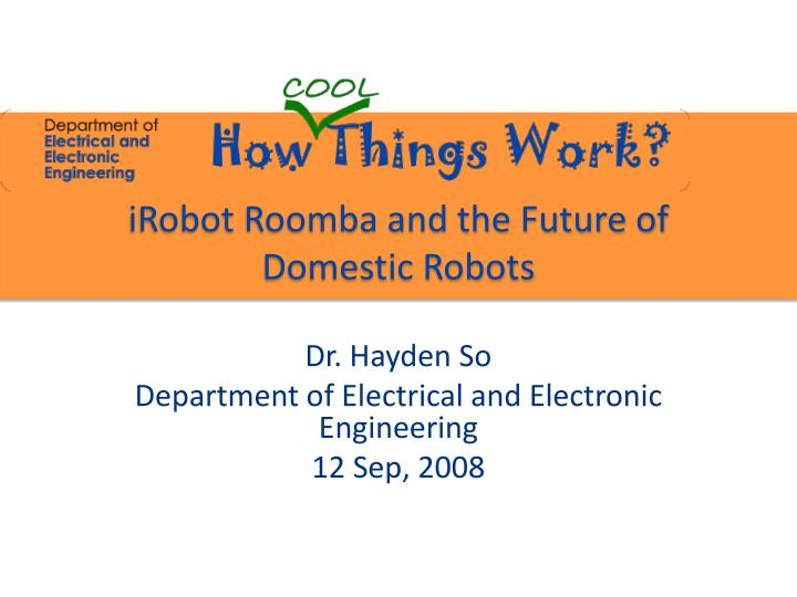 irobot roomba and the future of domestic robots n.