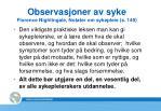 observasjoner av syke florence nightingale notater om sykepleie s 149
