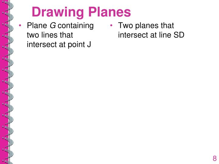 Drawing Planes
