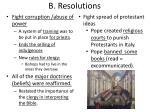 b resolutions