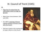 iii council of trent 1545