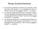 temps d acheminement
