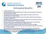 anticipated benefits