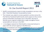 dr zoe dunhill report 2011
