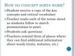 how do concept sorts work