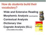 how do students build their vocabulary
