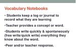 vocabulary notebooks