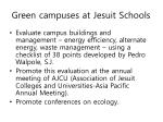 green campuses at jesuit schools