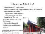 is islam an ethnicity