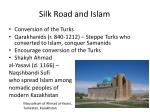 silk road and islam