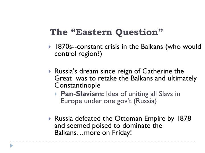 the eastern question n.