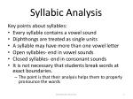 syllabic analysis1