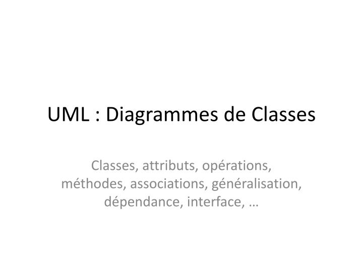 uml diagrammes de classes n.