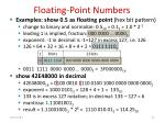 floating point numbers4
