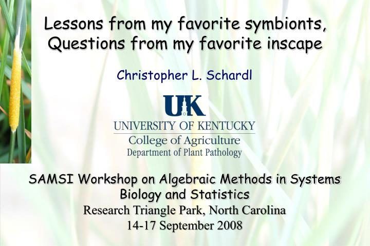 lessons from my favorite symbionts questions from my favorite inscape n.