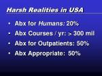 harsh realities in usa