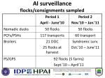 ai surveillance flocks consignments sampled