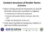 contact structure of broiler farms activities