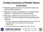 contact structure of broiler farms conclusions