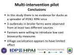 multi intervention pilot conclusions