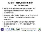multi intervention pilot lessons learned