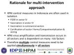 rationale for multi intervention approach