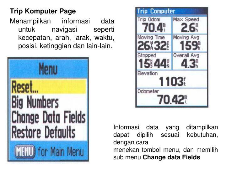 Trip Komputer Page
