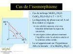 cas de l isomorphisme
