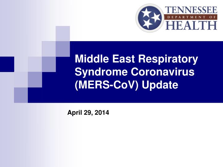 middle east respiratory syndrome coronavirus mers cov update n.