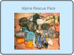 alpine rescue pack