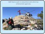 sar teams work in conjunction with other law enforcement agencies