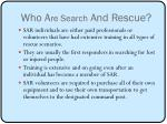 who a re search and rescue