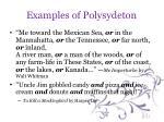 examples of polysydeton