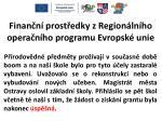finan n prost edky z region ln ho opera n ho programu evropsk unie