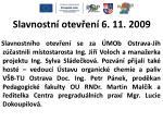 slavnostn otev en 6 11 2009