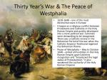 thirty year s war the peace of westphalia