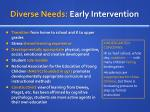 diverse needs early intervention