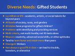 diverse needs gifted students