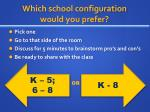 which school configuration would you prefer