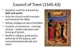 council of trent 1545 63