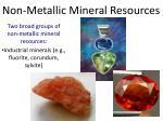 non metallic mineral resources2