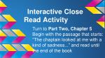 interactive close read activity