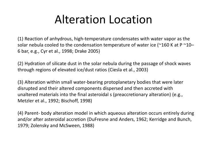Alteration Location