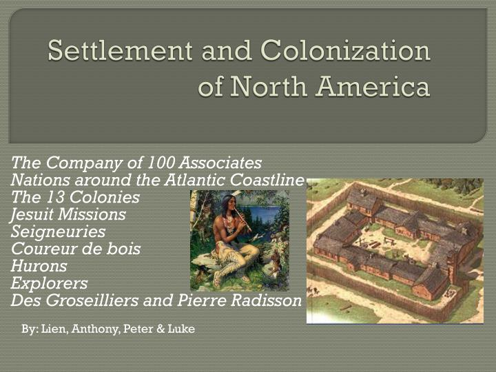 settlement and colonization of north america n.