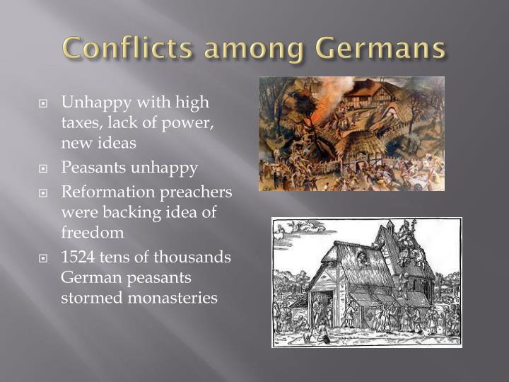 Conflicts among Germans