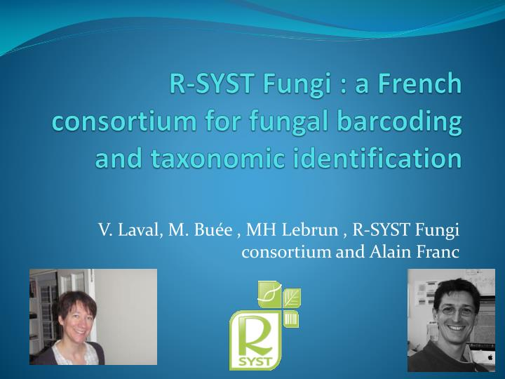 r syst fungi a french consortium for fungal barcoding and taxonomic identification n.