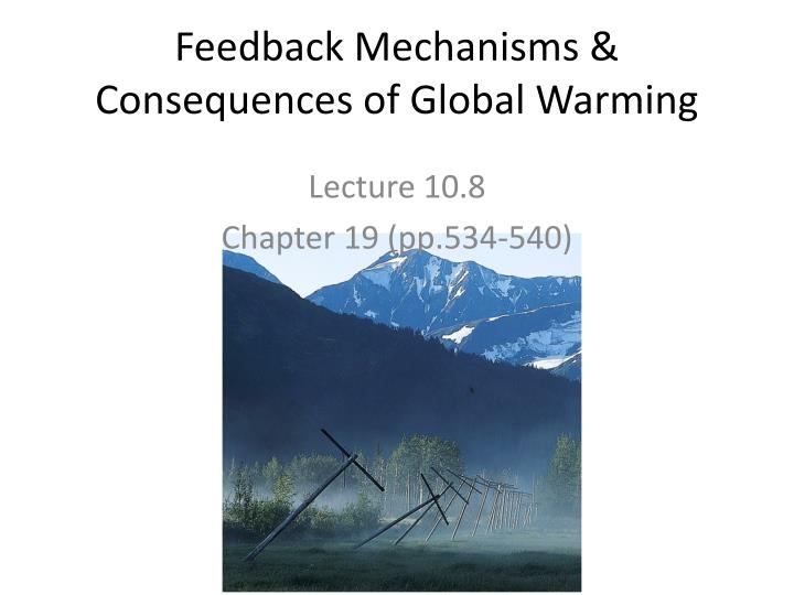feedback mechanisms consequences of global warming n.