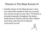 themes in the maze runner iv